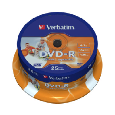 DVD-R Verbatim 4.7GB 16× Matt Silver 25 pack spindle/V043522