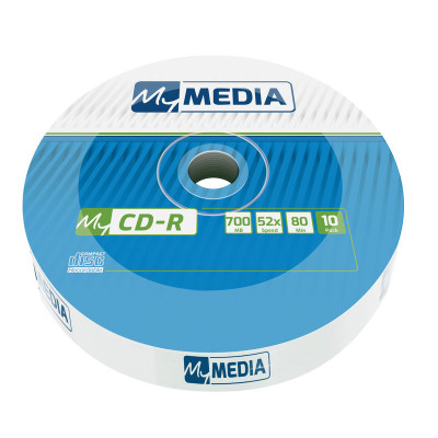CD-R MyMedia 700MB 52× Matt Silver, Wrap pakiranje 10 kom. -V069204