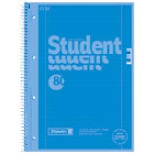 Blok kolegij A4 crte 80L perforacija+4rupe Color Code Brunnen 10-67927 132 plavi