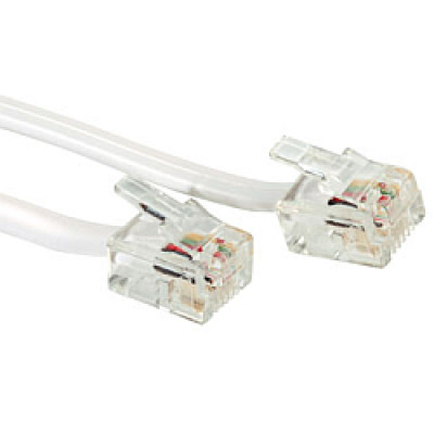 Telefonski kabel 2×RJ-12, 2.0m, sivi