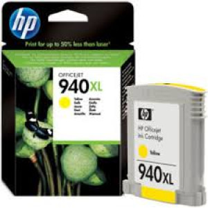 Tinta HP Car. C4909AE - HP OJ940XL - yellow
