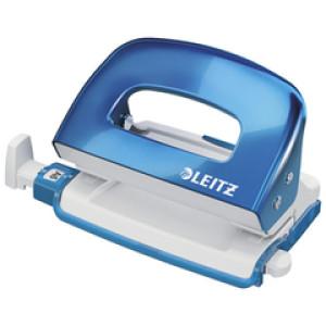 Bušač 2 rupe do 10 listova Wow Leitz 50602036 metalik svijetlo plava blister