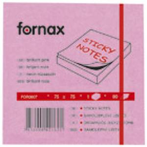 Blok samoljepljiv 75x75mm 80L Fornax neon-rozi